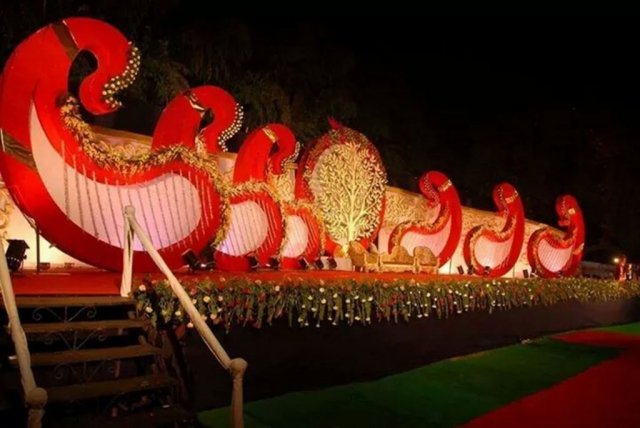 marriage decoration stage photos