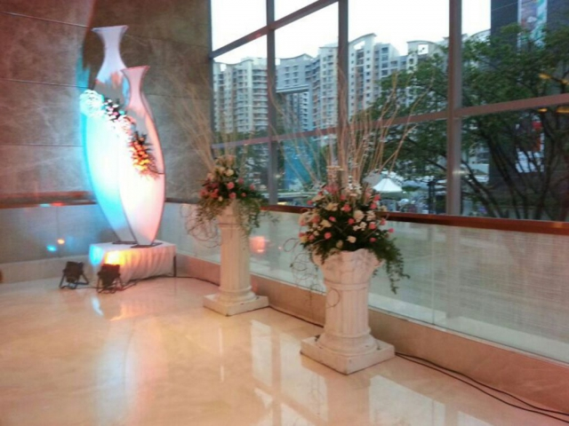 simple flower decoration wedding receptions