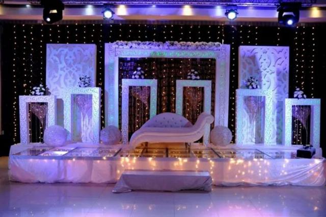 wedding reception decor without flower