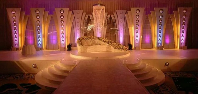 wedding reception decor without flowers